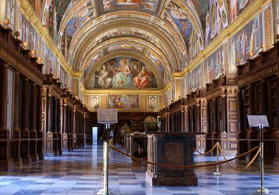 El Escorial Library, Madrid, Spain.