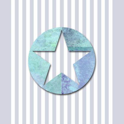 Stoere geboortekaart met ster en strepen - Geboortekaartjes - Kaartje2go