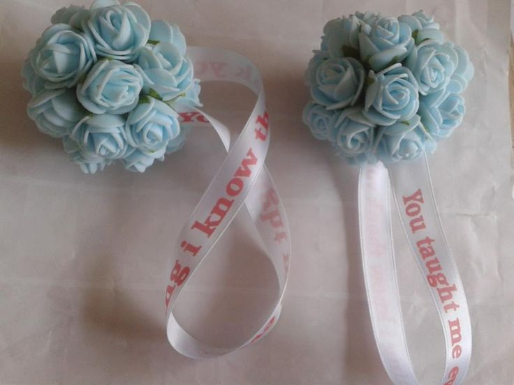 Pomanders starting from £4,75 and ribbons are printed here not out sourced