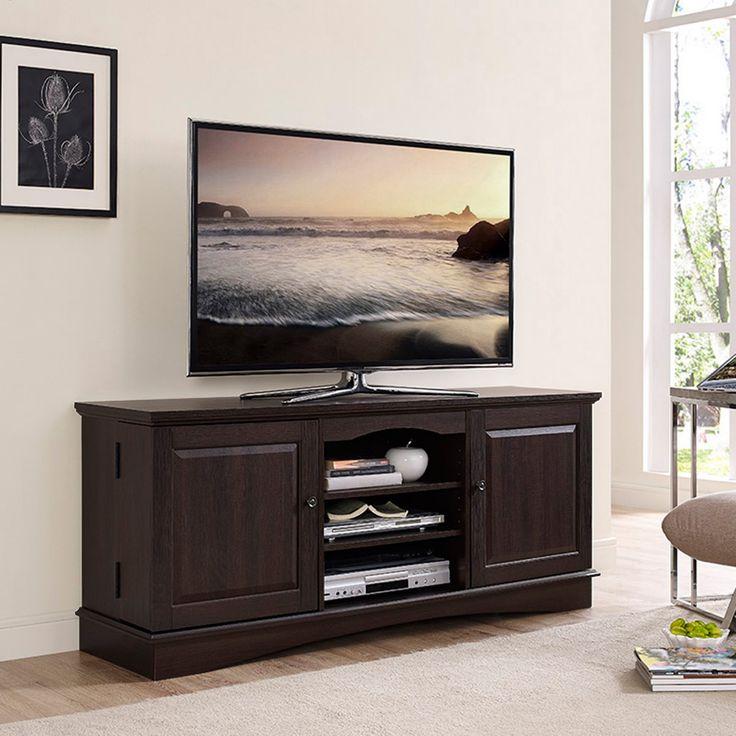 Walker Edison Espresso Wood 60 in. TV Media Stand Storage Console - Espresso - HNQ60C73ES