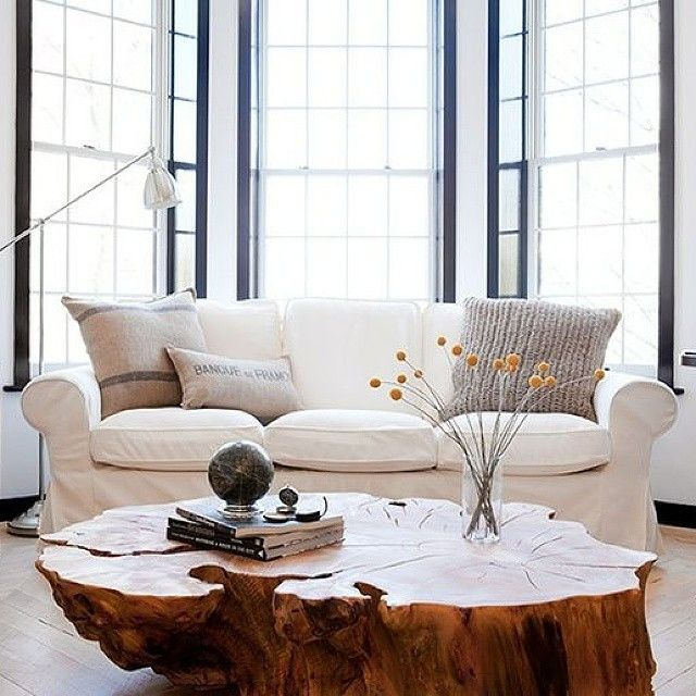 Mesa de centro rústica - em madeira maciça - Madeirado - Móveis de madeira maciça
