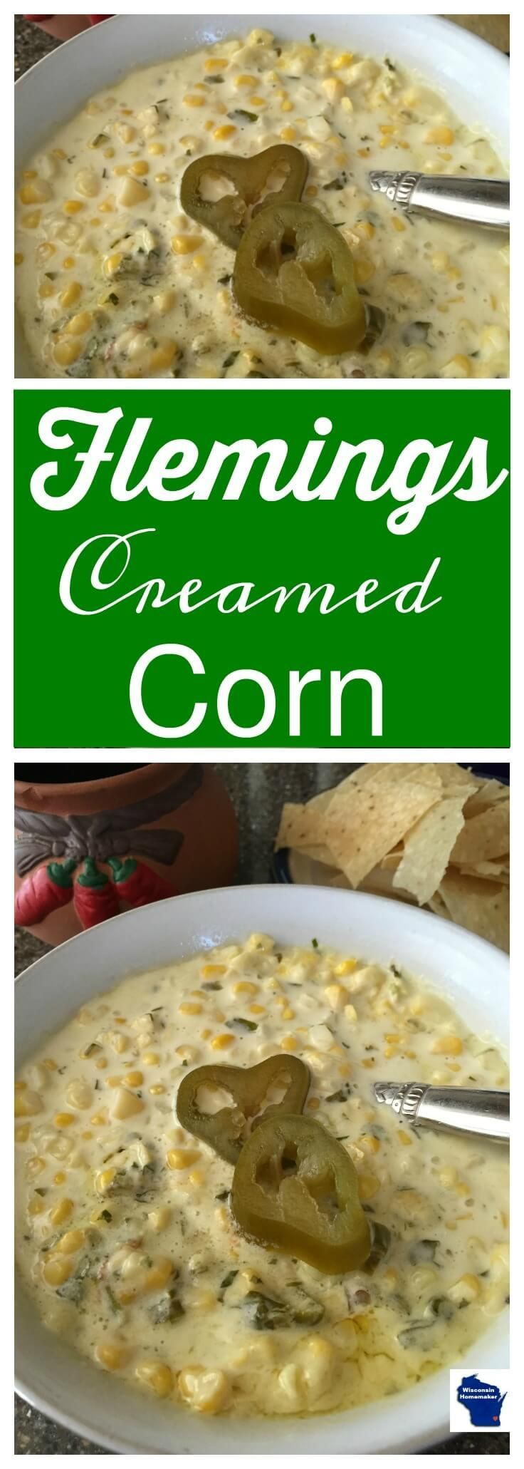 Flemings Creamed Corn found on WisconsinHomemaker.com - This is my rendition of a delicious Fleming's Steakhouse side dish and named appropriately: Flemings Creamed Corn. It's bold and spicy but it's not too hot. via @wihomemaker