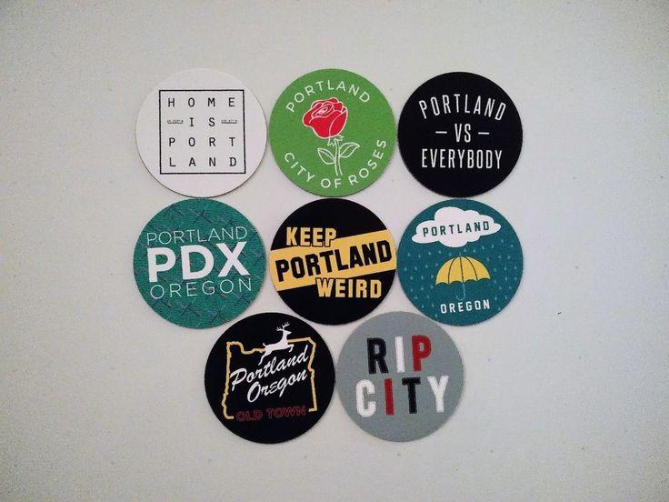 Portland Magnets - City of Portland Oregon Magnets - City Pride -  8 Designs #Portland