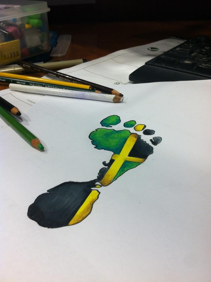 Jamaican footprint by: : Vandel_Royale