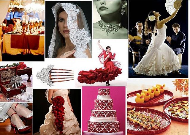 Spanish Wedding Theme by One White Dress, via Flickr