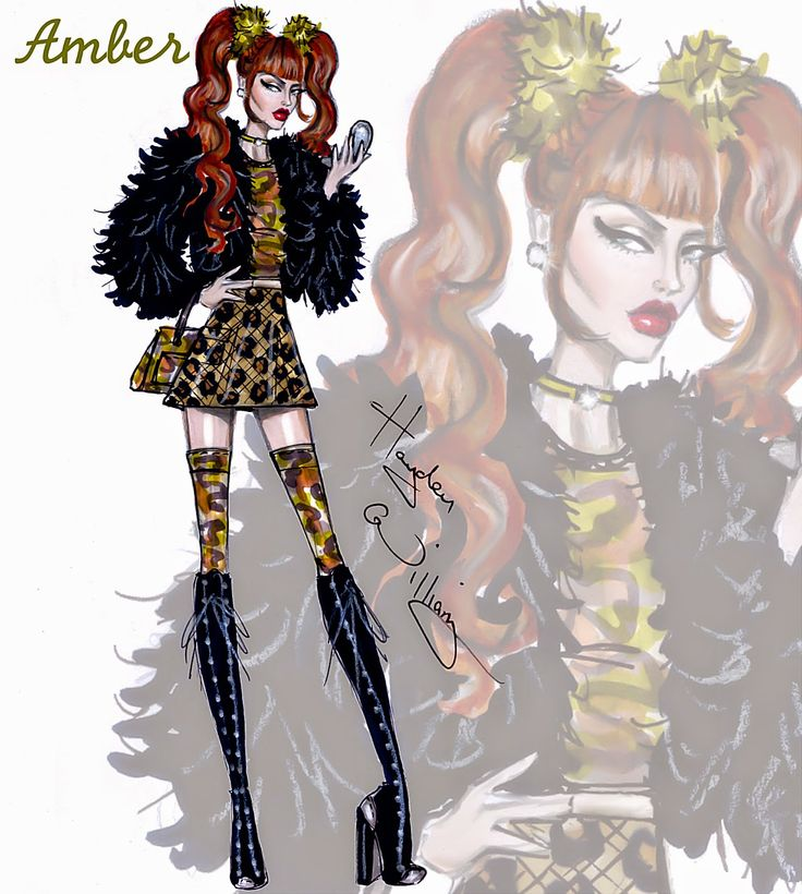 Hayden Williams Fashion Illustrations: Clueless collection by Hayden Williams: Amber Mariens