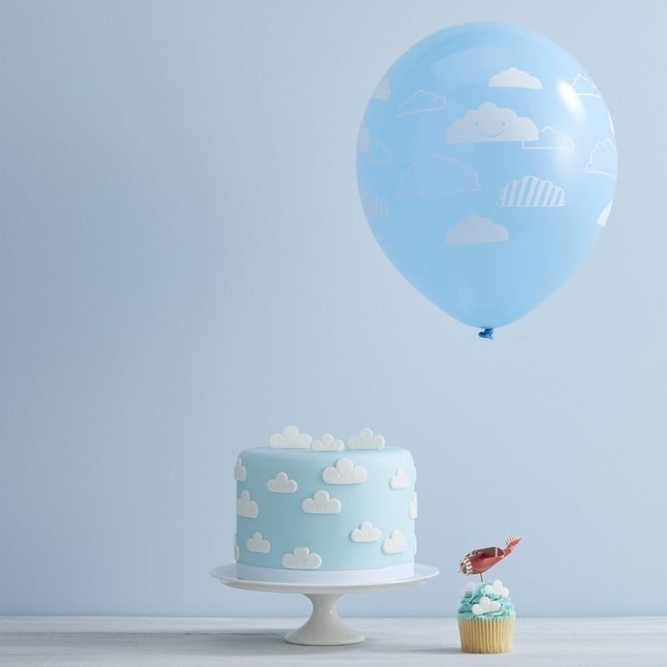 These adorable cloud balloons make a brilliant addition to a plane themed birthday party! Kids will love the cute cloud characters and the lovely bright blue colour - Flying High at GingerRay.co.uk