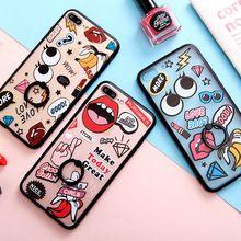 Moda Caja Del Teléfono de la Historieta Patten con el Anillo Del Dedo Para el iphone 6,6, 6 Splus, 7,7 más de Lujo de La Contraportada Funda con Pata de Cabra(China)