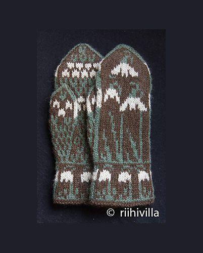 Ravelry: Snowdrop Mittens pattern by Jouni Riihelä and Leena Riihelä