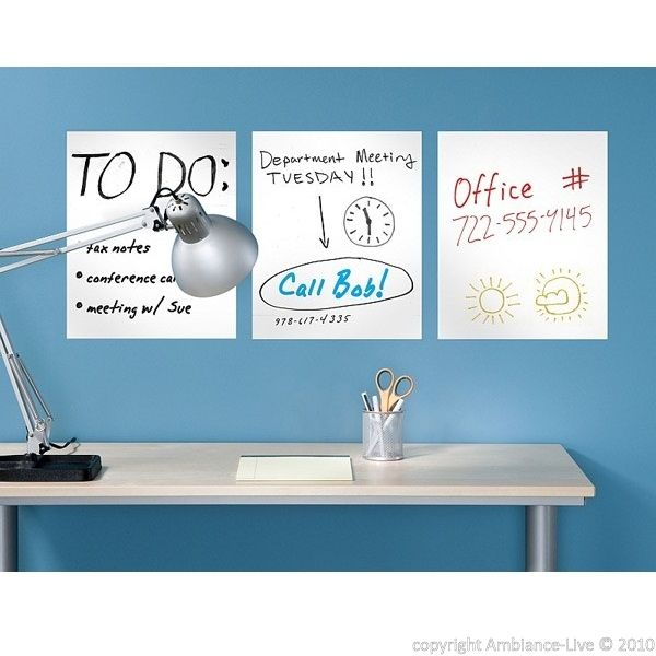 This rectangle whiteboard sticker is made to write with removable Velleda felt. You can write and remove the writings with wet or dry tissue as many times as you want. This is like a real classroom blackboard, with decorative and convenient designs.