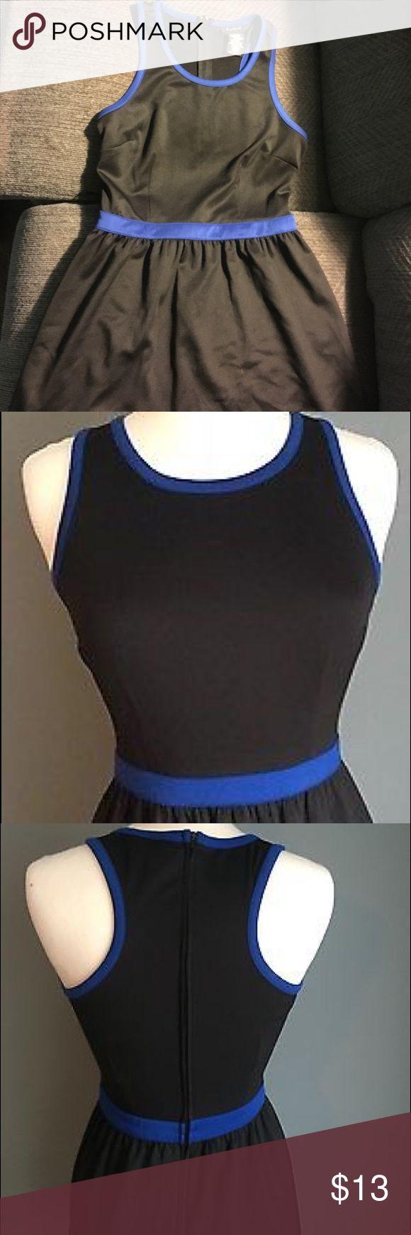 B. Smart Racerback Dress Comfy casual dress! Black with blue accents. B. Smart Dresses Midi