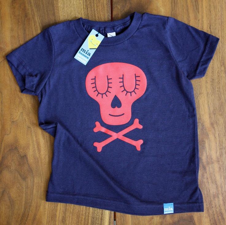 #Skull T-Shirt - #Kids Size 4. $25 by Mia Hansen via Etsy #tees #girls