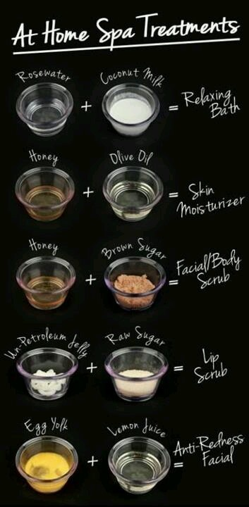 At home spa ideas with household ingredients!
