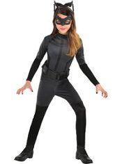 Girls Black Catwoman Costume - The Dark Knight Rises Batman