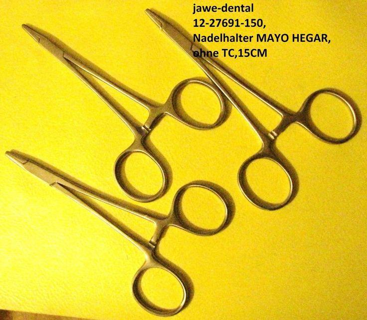 3er set Nadelhalter-Needle holder MAYO Hegar Forceps,15CM,Hochwertiger Edelstahl