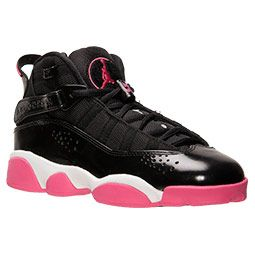 Girls\u0026#39; Grade School Jordan 6 Rings Basketball Shoes?| FinishLine.com | Black/Spark/White | Kicks | Pinterest | Basketball Shoes, Girl Jordans and Basketball