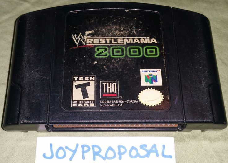 Wrestlemania 2000 (Nintendo 64,1999) WWF Attitude Era Wrestle Sports Fighting