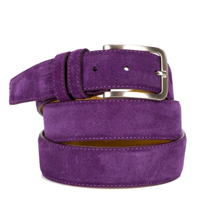 Suede riem: Intense Purple by ColorMeSocks™