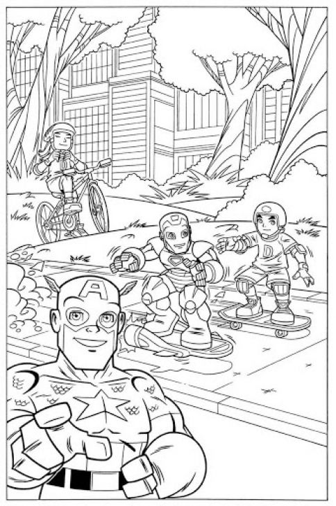 hero squad coloring pages - photo#39