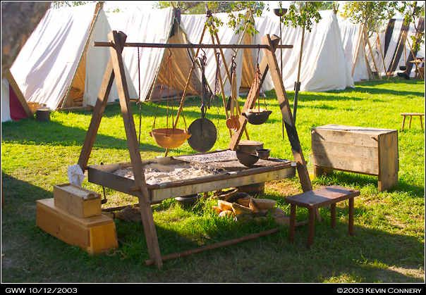 Viking cooking - fireplace raised from the ground
