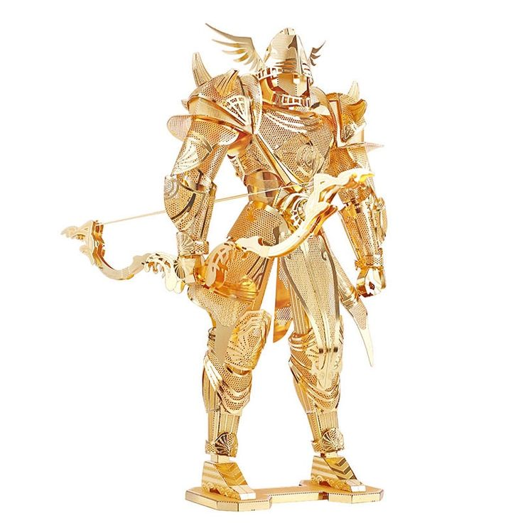 16.49$  Watch here - http://aliuhw.shopchina.info/go.php?t=32701359572 - 3D Metal Puzzle Knight of Firmament Armor Building DIY Laser Cut Toys Educational Model Gift For Kids Adults Gold  #shopstyle