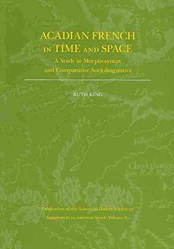 Acadian French in Time and Space: A Study in Morphosyntax... https://www.amazon.ca/dp/082236784X/ref=cm_sw_r_pi_dp_U_x_n30iAbW8X12N3