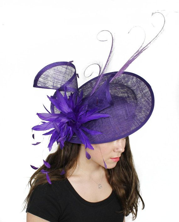 Adonis Purple Fascinator Hat For Weddings Races By Hatsbycressida 220 00