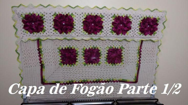 Capa de Crochê Para Fogão Parte - 01/02