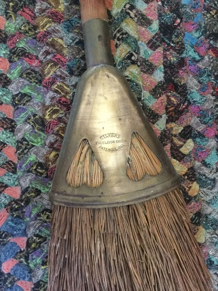 Early Rare SILVERS Broom With Hearts!!!! Patented 1865. Never Find Another!!!