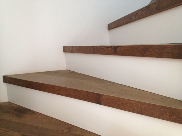 treppenstufen aus einer chapel eiche landhausdiele pinterest. Black Bedroom Furniture Sets. Home Design Ideas