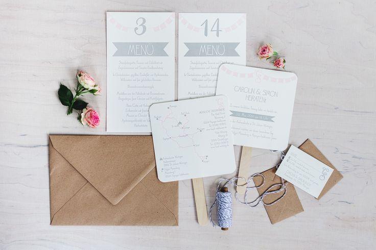Hochzeitseinladungen / Hochzeitspapeterie wedding suite - poule folle