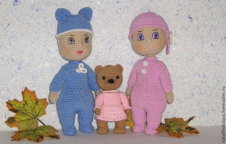 Купить Вязаные куклы малыши. - комбинированный, кукла, кукла ручной работы, кукла в подарок, куколка