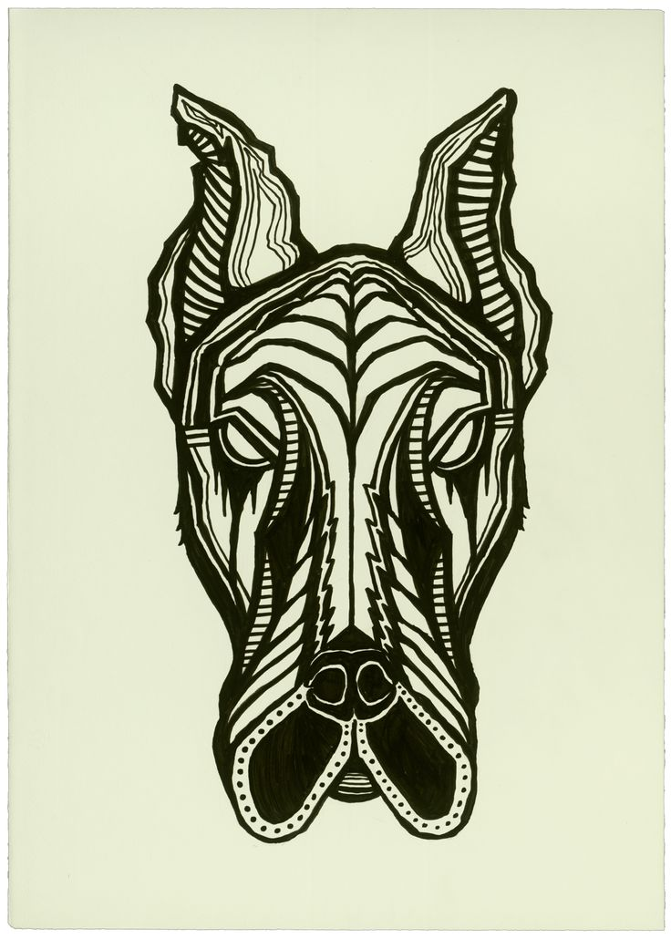 """There are great danes.  And then there is the Greatest Dane.   The record holder for tallest dog was a Great Dane called Zeus (died September 2014; aged 5), that measured 44"""" from paw to shoulder.  Original drawings is 19.5"""" x 27.5"""" Ink on Paper. Currently available on my website if it interests you."""