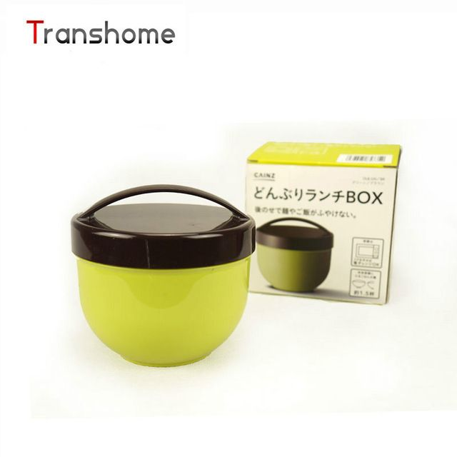 Promotion price TRANSHOME Microwave plastic carrying handle bento boxes Japanese style double bowl  meal box small portable  food container just only $7.45 with free shipping worldwide  #dinnerware Plese click on picture to see our special price for you