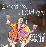 2 vriendinne 1 bottel wyn