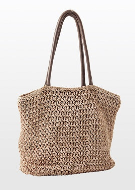 Loving the versatility of this neutral Hand Crocheted Tote Bag. Normthompson.com #Bag #Crochet #Purse