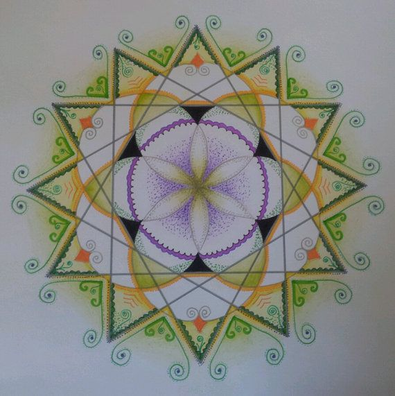 We are all as cells of the big univers - united and shering...    my uniqe handmade mandala is a kind of reminder to that deep awareness ... :)