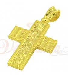 Σταυρός ανδρικός χρυσός Κ14 ST11_064