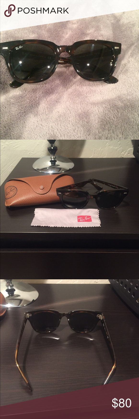 Ray Ban Meteor Wayfarer RB 4168 710 3N RB 4168 Meteor, PRE OWNED, comes with case and cloth, normal wear throughout, some scratches on lenses and frames, marks shown in pictures, minor imperfections. Any questions, ask! Ray-Ban Accessories Sunglasses