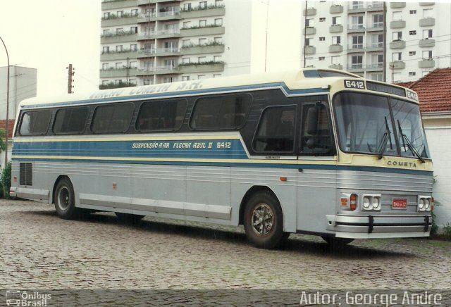 Ônibus da empresa Viação Cometa, carro 6412, carroceria CMA Flecha Azul II, chassi Scania K113CL. Foto na cidade de Jundiaí-SP por Autor: George André , publicada em 13/12/2011 19:45:23.