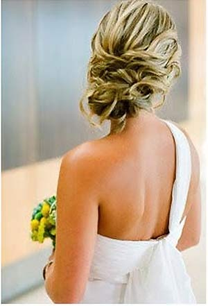 Loose Braided Formal Bridal Hairstyle