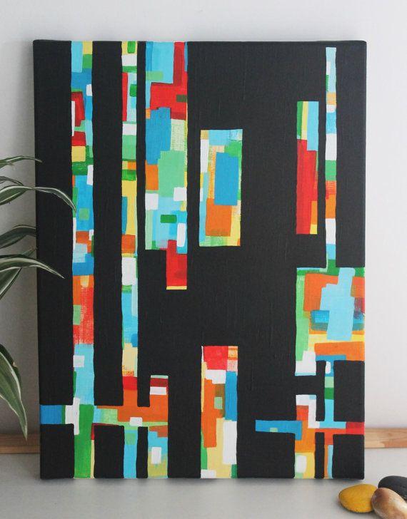 Scrap Piece acrylic on canvas 30cm x 40xm by nimwitstudio on Etsy