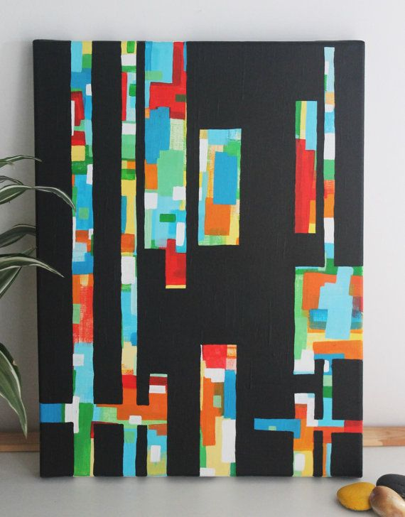 Scrap Piece acrylic on canvas 30cm x 40xm by nimwitstudio on Etsy