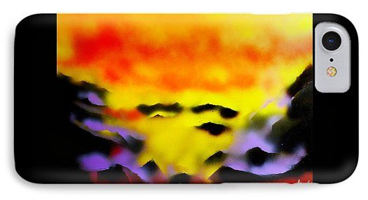 Land Of Heavens IPhone 7 Case Printed with Fine Art spray painting image Land Of Heavens by Nandor Molnar (When you visit the Shop, change the orientation, background color and image size as you wish)