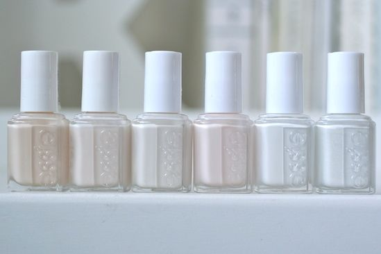 Essie Whites Comparison Limo Scene Marshmallow Tuck It In My Tux Baby S Breath Blanc