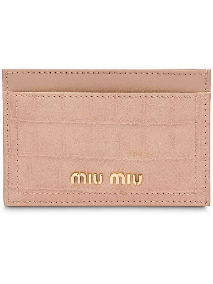 Miu Miu Madras credit card holder – Neutrals