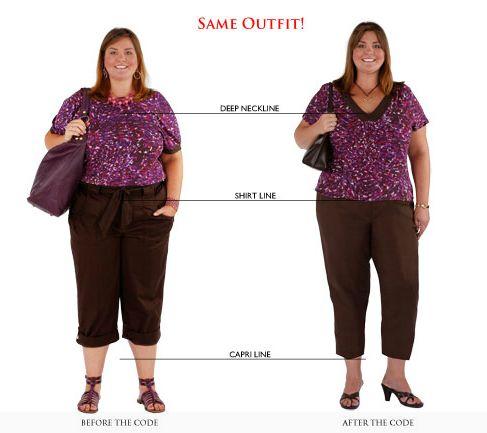 Colo valorizado, cintura mais acentuada e pernas alongadas para um visual que favorece o biotipo.