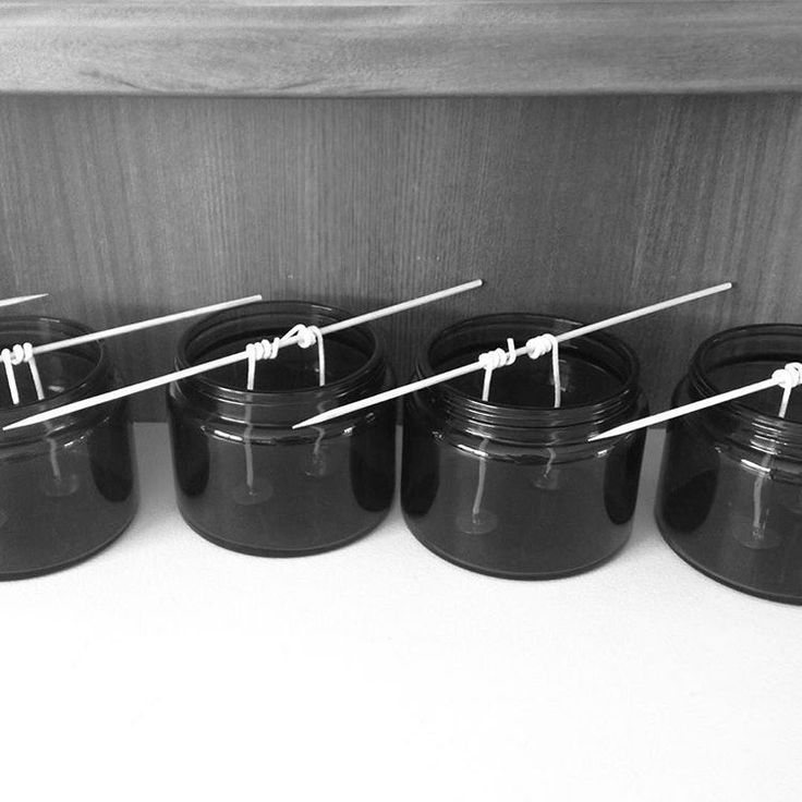 Just a few of our candles in the making #forceofhabit #soywaxcandle #handpoured