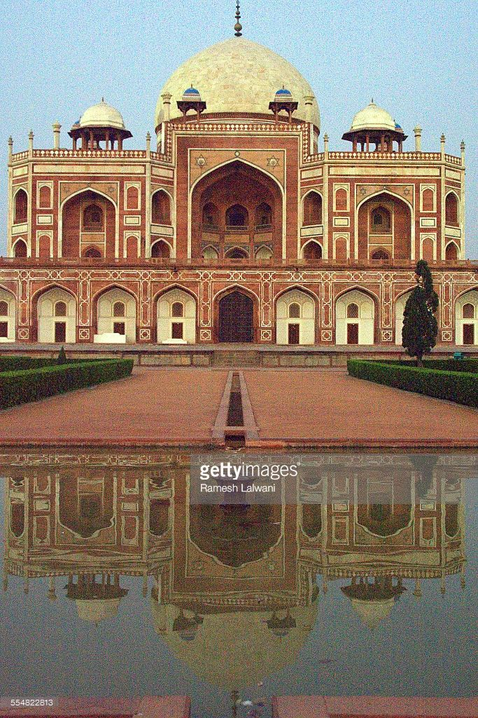 Humayun's tomb is a complex of buildings in Mughal architecture built as Mughal Emperor Humayun's tomb, commissioned by Humayun's wife Hamida Begum in 1562 CE, and designed by Mirak Mirza Ghiyath, a Persian architect