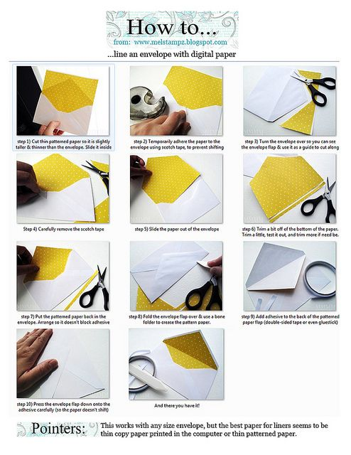 How to line an envelope quickly!  Love this.  I lined envelopes for my wedding, but it took forever with a template.  This looks to be a way easier method.
